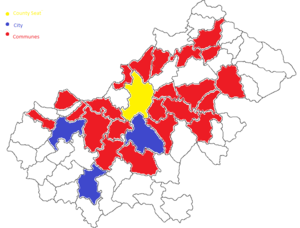 Satu Mare metropolitan area - Image: Harta Zonei Metropolitane Satu Mare
