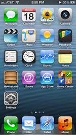 The iOS 6 home screen