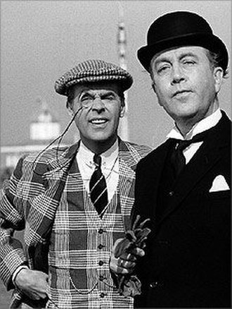 The World of Wooster - Ian Carmichael (left) as Bertie Wooster and Dennis Price as Jeeves
