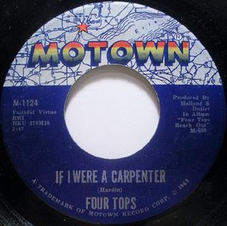 If I Were a Carpenter (song) - Image: If I Were a Carpenter Four Tops