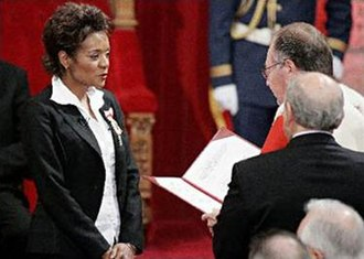 Governor General of Canada - Michaëlle Jean reciting the oaths of office as administered by Puisne Justice Michel Bastarache, 27 September 2005