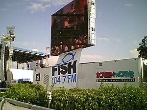 WFSH-FM - Image: Jumbotron with the Fish