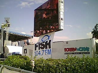WFSH-FM - Image: Jumbotron with the Fish