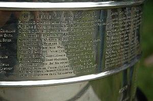 Jamie Langenbrunner - Langenbrunner close-up on the Stanley Cup.