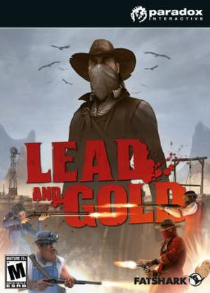Lead and Gold: Gangs of the Wild West - Image: Lead and Gold cover