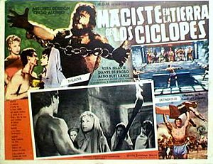 Atlas in the Land of the Cyclops - Spanish lobby card