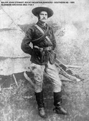 Rocky Mountain Rangers (1885) - Photo of Major John Stewart of the Rocky Mountain Rangers – 1885 – Glenbow Archives NA-1724-1