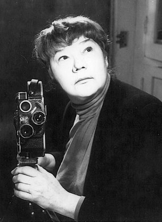 Marie Menken - Marie Menken with her 16 mm Bolex