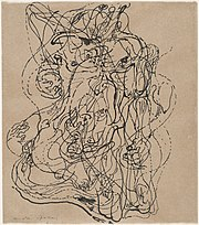 André Masson. Automatic Drawing. 1924. Ink on paper, 23.5 x 20.6 cm. Museum of Modern Art, New York.