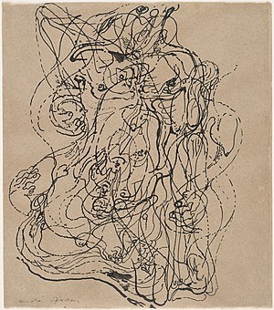 Surrealism - André Masson. Automatic Drawing. 1924. Ink on paper, 23.5 x 20.6 cm. Museum of Modern Art, New York.