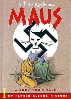 <i>Maus</i> 1991 graphic novel by American cartoonist Art Spiegelman