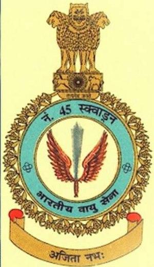 No. 45 Squadron IAF - Image: No.45 squadron patch