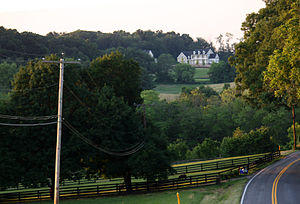 West Friendship, Maryland - Large homes dot farms and rolling hills in West Friendship.