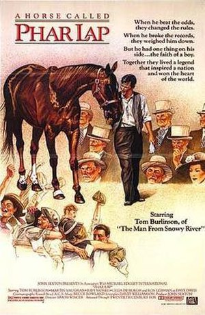 Phar Lap (film) - Promotional poster from the 1983 Phar Lap film.