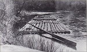 Leonard Harrison State Park - A log raft on Pine Creek