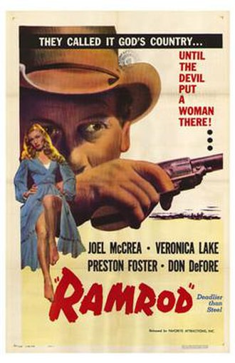 Ramrod (film) - Movie poster for Ramrod (1947)