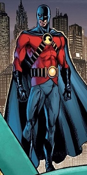 Jason Todd - Jason Todd taking the role of Red Robin. Art by Phil Jimenez.