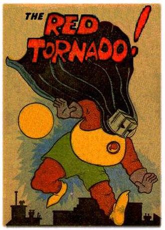 "Red Tornado (Ma Hunkel) - ""Ma"" Hunkel, the Golden Age Red Tornado.  Art by Sheldon Mayer."