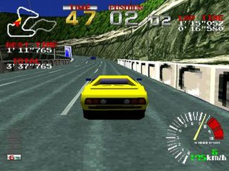 Ridge Racer (video game) - Ridge Racer Turbo features updated graphics and a higher frame rate.