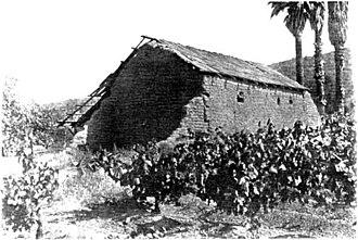 Misión Santo Tomás de Aquino - Site of the mission in 1926.
