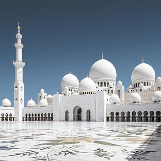 Sheikh Zayed Mosque - Sheikh Zayed Mosque as seen from the courtyard.