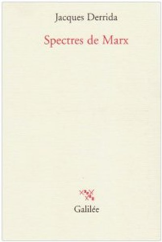 Specters of Marx - Cover of the first edition