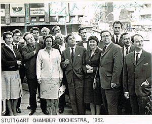 Stuttgarter Kammerorchester - Image: Stuttgart Chamber orchestra, 1962 on Southern Africa tour