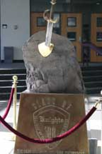 Lone Peak High School - Image: Sword in stone