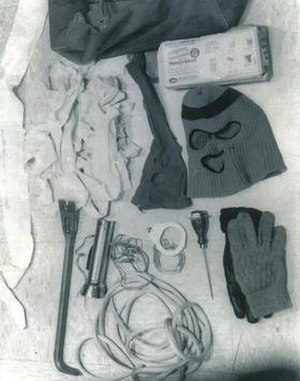 Items found in Bundy's Volkswagen, Utah, 1975