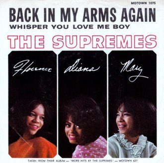 Back in My Arms Again - Image: The supremes back in my arms again 1965 US vinyl