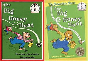 Berenstain Bears - The Big Honey Hunt in its original 1962 publication, left, and its 2002 reissue