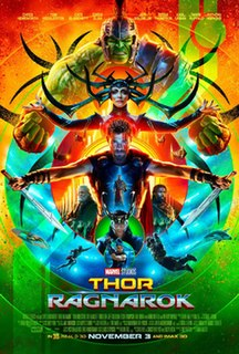 <i>Thor: Ragnarok</i> 2017 superhero film produced by Marvel Studios