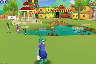 A Toon in Toontown Central, the first playground available in-game. Toontown Online, Toontown Central Screenshot 5-25-2012.jpg