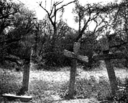 Tres Cruces de Chumampaco in 1895, where Cajeme was killed Tres Cruces de Chumampaco.jpg