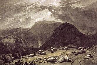 Gibbet Hill, Hindhead - Hind-head Hill c1808