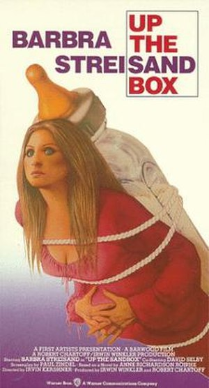 Up the Sandbox - VHS cover artwork, circa. 1980s