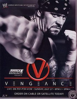 Vengeance (2003) 2003 World Wrestling Entertainment pay-per-view event