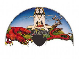 Virgin Records - Virgin logo designed by Roger Dean for the fledgling Virgin Records label