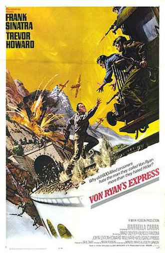 Von Ryan's Express - Theatrical release poster by Tom Chantrell