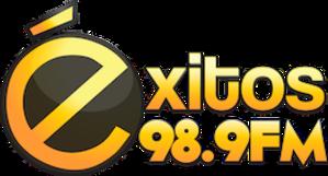 XHAMO-FM - Image: XHAMO exitos 98.9 logo