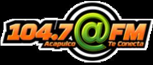 XHCI-FM - Image: XHCI @FM104.7 logo