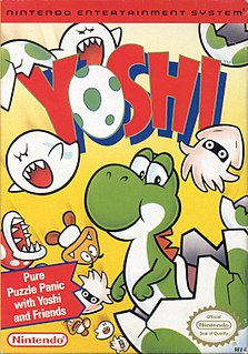 <i>Yoshi</i> (video game) 1991 puzzle video game published by Nintendo