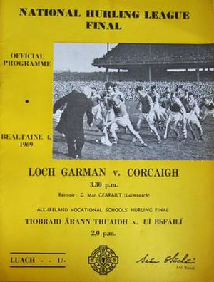 1968–69 National Hurling League - Image: 1968–69 National Hurling League Final programme