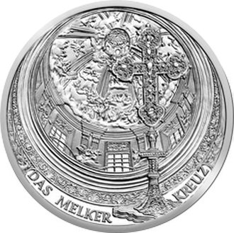 Johann Michael Rottmayr - Melk Abbey commemorative coin featuring a painting of Johann Michael
