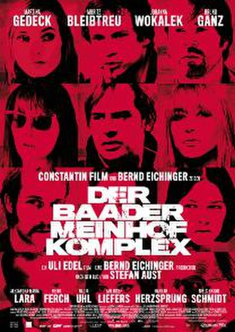 The Baader Meinhof Complex - Theatrical release poster