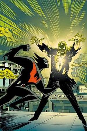Batman Beyond (comics) - Cover art by Bruce Timm from the Batman Beyond comic book miniseries, depicting Batman battling Blight.