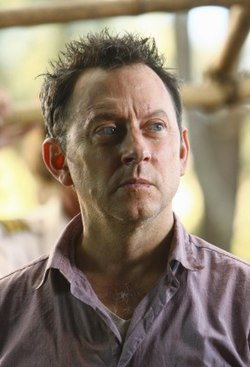 "Michael Emerson as Ben Linus in the fourth season episode ""Cabin Fever"""