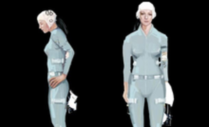 Chell (Portal) - The concept art for Chell.
