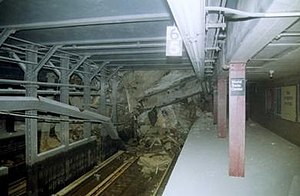Cortlandt Street (IRT Broadway–Seventh Avenue Line) - Station destruction caused by September 11, 2001 attacks