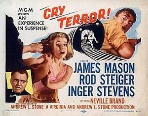 Cry Terror! - Theatrical release lobby card